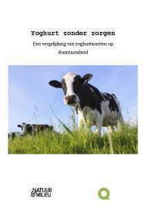Yoghurt zonder zorgen. Een vergelijking van yoghurtsoorten op duurzaamheid