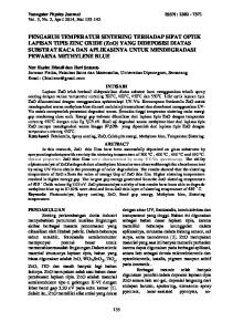 Youngster Physics Journal ISSN : Vol. 3, No. 2, April 2014, Hal