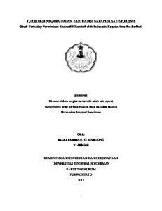YURISDIKSI NEGARA DALAM EKSTRADISI NARAPIDANA TERORISME (Studi Terhadap Permintaan Ekstradisi Hambali oleh Indonesia Kepada Amerika Serikat)