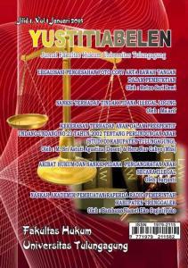 YUSTITIABELEN Jurnal Fakultas Hukum Universitas Tulungagung