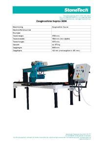 Zaagmachine Suprax. 120 mm. (met zaagblad d. 425 mm.)