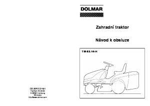Zahradní traktor. Návod k obsluze TM H. DOLMAR GmbH Postfach D Hamburg