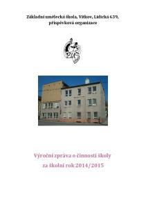 Základní umělecká škola, Vítkov, Lidická 639, příspěvková organizace