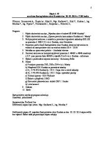 Zápis č. 43 ze schůze Zastupitelstva obce Kunžak dne v hodin