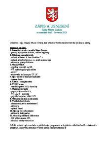 ZÁPIS A USNESENÍ Rady Města Turnov ze zasedání dne 9. července 2003