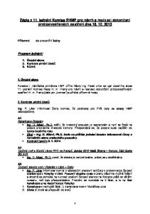 Zápis z 11. jednání Komise RHMP pro návrh a realizaci dokončení protipovodňových opatření dne