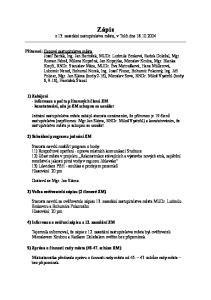 Zápis. z 13. zasedání zastupitelstva města, v Telči dne