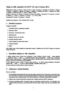 Zápis ze 200. zasedání AS MFF UK dne 9. dubna 2014