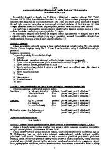Zápis ze shromáždění delegátů Stavebního bytového družstva Třebíč, družstva konaného dne