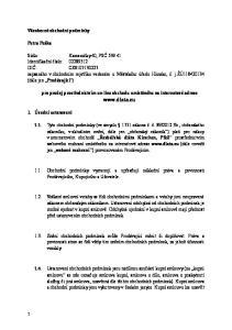 zapsaného v obchodním rejstříku vedeném u Městského úřadu Hlinsko, č. j.žú (dále jen Prodávající )