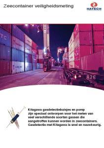 Zeecontainer veiligheidsmeting