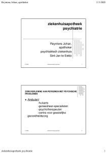 ziekenhuisapotheek psychiatrie