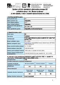 Zpráva o dílčích výsledcích výběrového procesu GP průběžné výzvy č. 35 Školení je šance