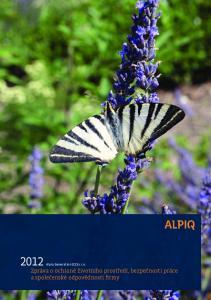 Zpráva o ochraně životního prostředí, bezpečnosti práce a společenské odpovědnosti firmy